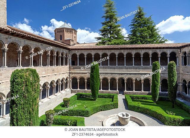 Cloister of monastery of Santa Maria de Ripoll, Catalonia, Spain
