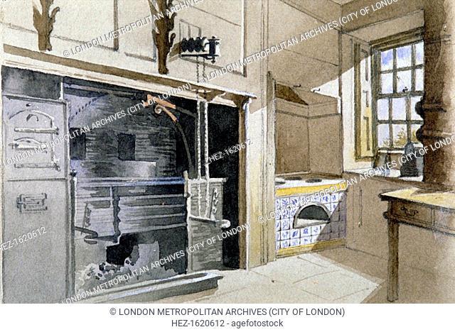 Kitchen range and Dutch oven, no 21 Austin Friars Street, City of London, 1885