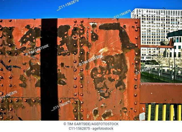 metal rusty wall,london,england,uk