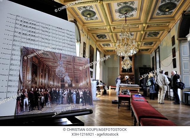 Galerie de Guise during restoration work, Castle of Eu, Seine-Maritime department, Haute-Normandie region, northern France, Europe
