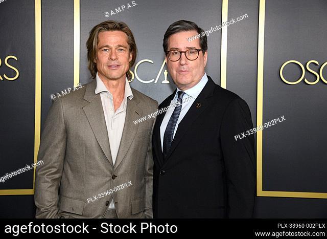Oscar® nominee Brad Pitt with Academy President David Rubin at the Oscar Nominee Luncheon held at the Ray Dolby Ballroom, Monday, January 27, 2020