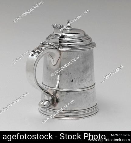Tankard. Maker: Edward Winslow (1669-1753); Date: 1725-50; Geography: Made in Boston, Massachusetts, United States; Culture: American; Medium: Silver;...