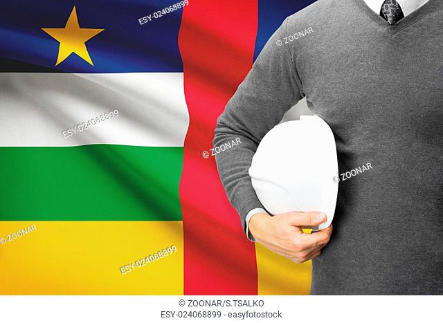 Architect with flag on background - Central African Republic