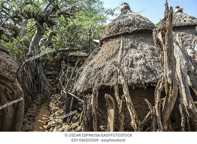 Traditional Konso tribe house in Ethiopia