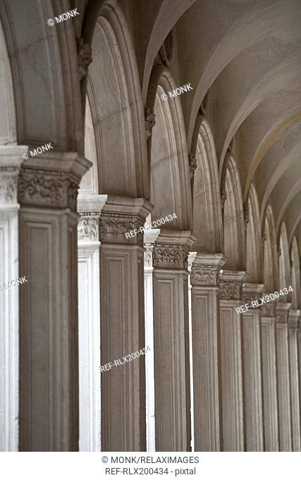 Colonnade, Doges Palace, Venice, Italy