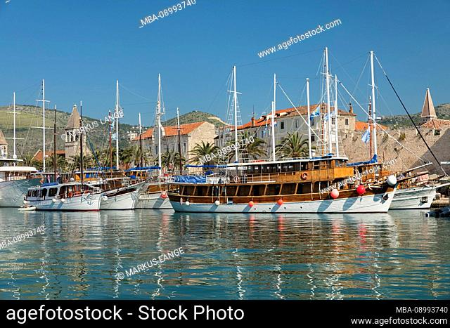 Old Town Stari Grad of Trogir, UNESCO World Heritage Site, Dalmatia, Croatia