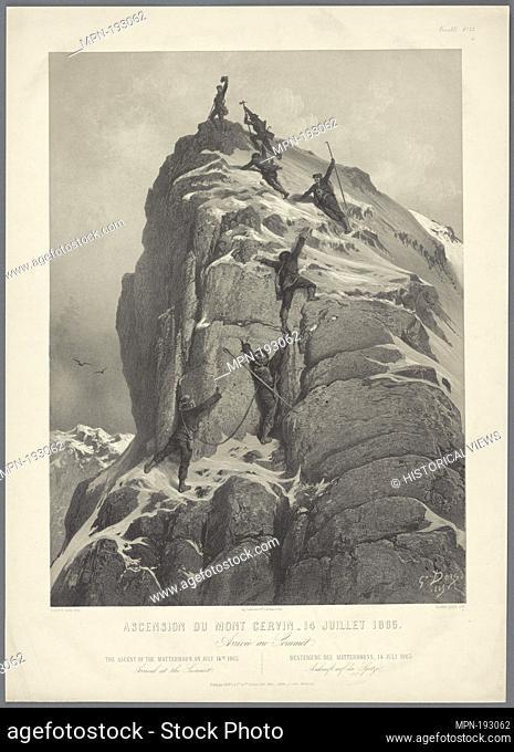 Ascension du Mont Cervin - 14 Juillet 1865 Additional title: Arriveé au Sommet. Doré, Gustave, 1832-1883 (Artist) Ciceri, Eugène