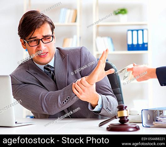 The lawyer being offered bribe for his services
