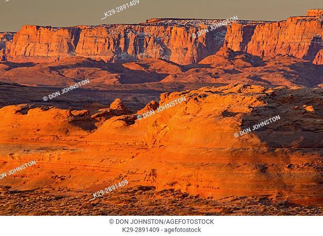 Sandstone rocks near Lake Powell, Page, Arizona, USA