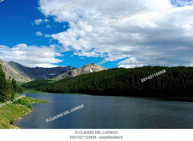 Clinton Gulch Dam Reservoir and Rocky Mountains, Colorado