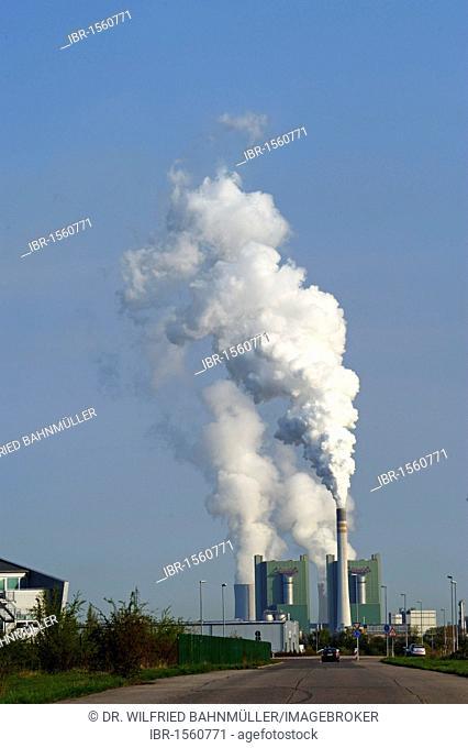 Lignite-fired power station Schkopau, Saxony-Anhalt, Germany, Europe