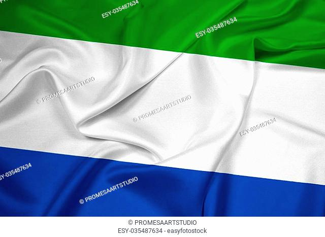 Waving Sierra Leone Flag