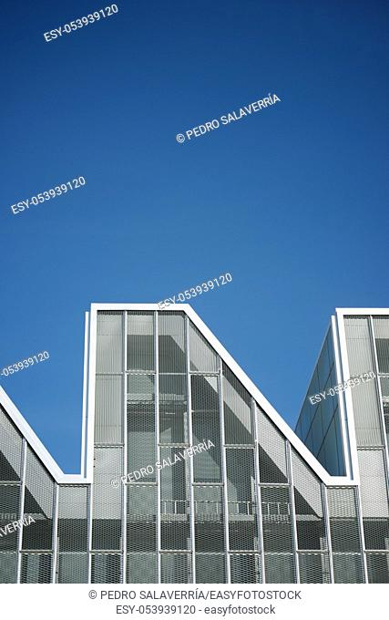 Close-up of a modern building in Spain
