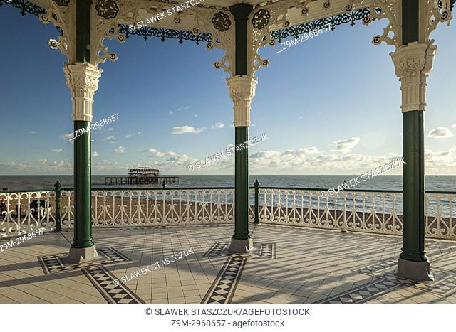 The Bandstand on Brighton seafront, East Sussex, England