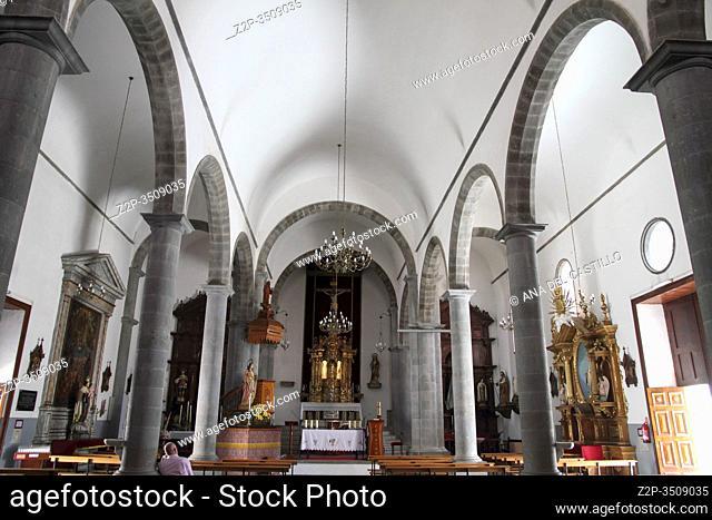 Church in Santa Brigida village, Gran Canaria, Canary islands, Spain
