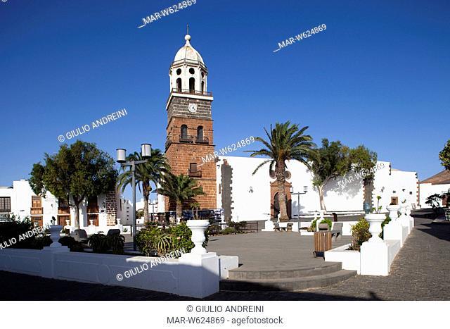 Church of Our Lady of Guadalupe, Plaza de la Constitucion, Teguise village, Lanzarote, Canary, Spain