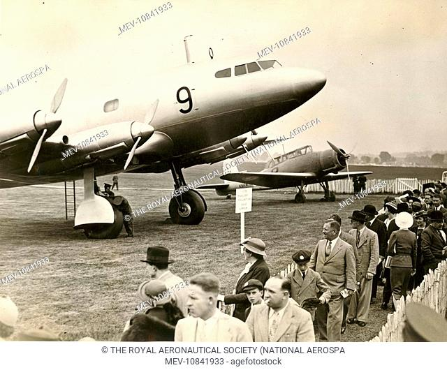 de Havilland DH91 Albatross alongside Blackburn Skua first prototype K5178 at the Royal Air Force Display at Hendon