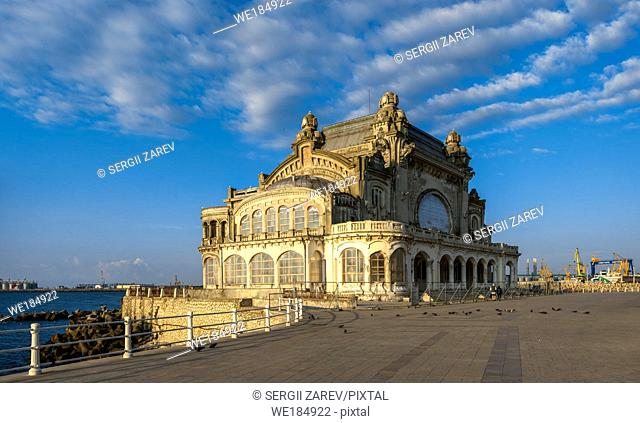 "Constanta, Romania â. "" 07. 09. 2019. The Old Casino in Constanta, Romania, on a sunny summer morning"