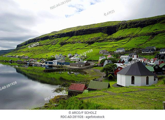 Church, Haldarsvik, Streymoy, Faro Islands, Denmark / Faerö Islands, Färö Islands, Faeroe Islands