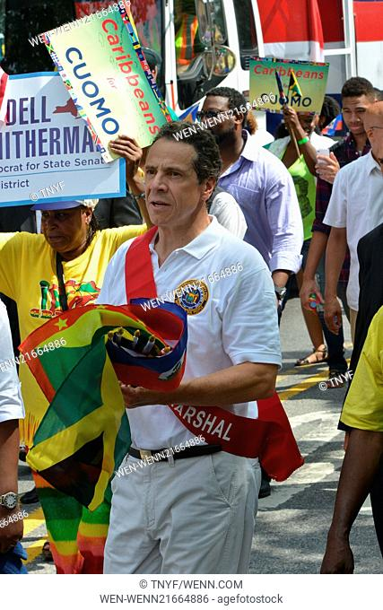 Scenes from the 2014 West Indies Day Parade Featuring: Governor Andrew Cuomo Where: Manhattan, New York, United States When: 01 Sep 2014 Credit: TNYF/WENN