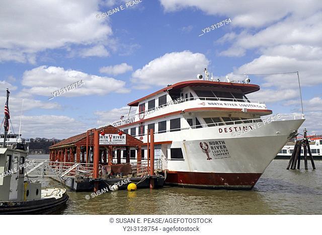 North River Lobster Company boat, Pier 81, Hudson River, New York City