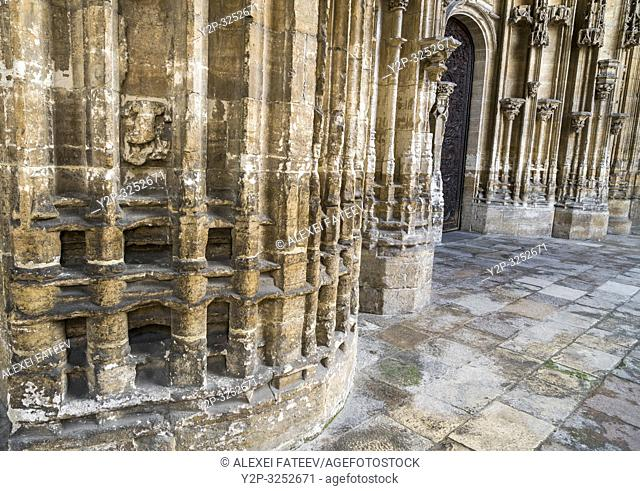 Portal of Cathedral of San Salvador in Oviedo, Asturias, Spain