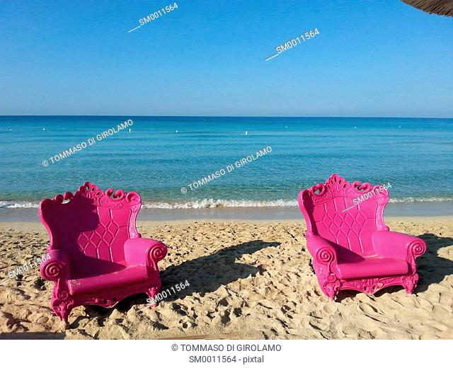 Italy, Salento, Apulia, porto cesareo, Lapillo locality, beach