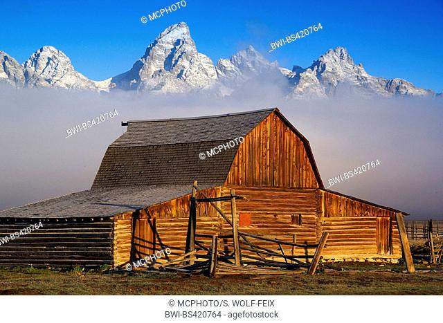 Mormon Row, Ranch, USA, Wyoming, Grand Teton National Park