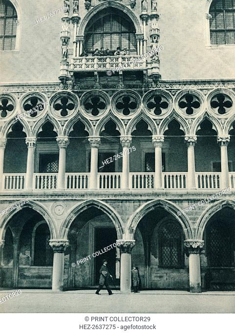Part of the Doge's Palace, Venice, Italy, 1927. Artist: Eugen Poppel