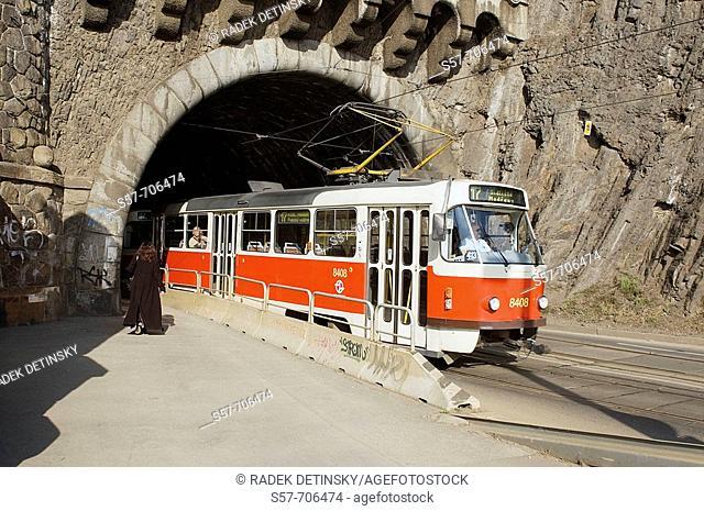 Transport - tunnel under Vysehrad Rock, Prague, Czech Republic