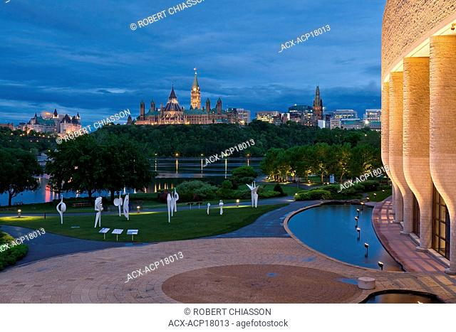 View of Ottawa and the Houses of Parliament from the Canadian Museum of Civilization, Hull, Canada
