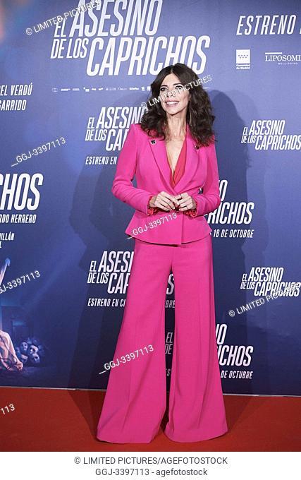 Maribel Verdu attends 'El asesino de los caprichos' premiere at Verdi Cinema on October 15, 2019 in Madrid, Spain