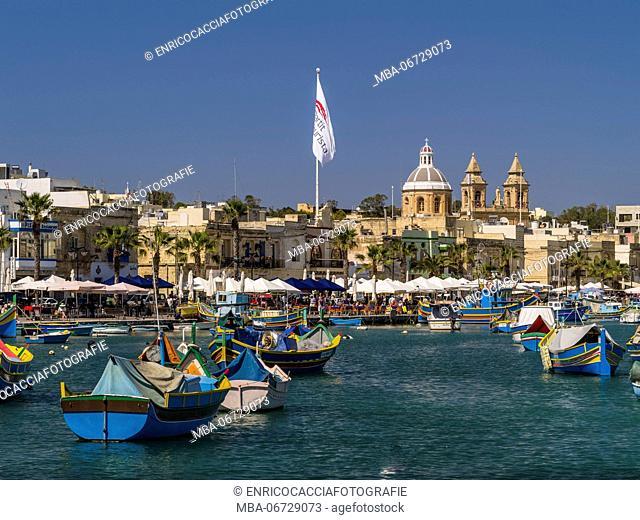 Fishing harbour of Marsaxlokk on Malta
