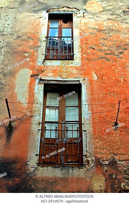 Balconies, Amer, La Garrotxa, Catalonia, Spain