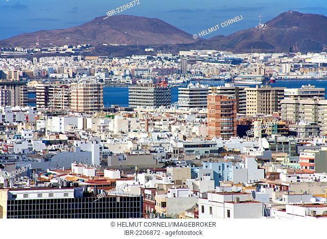 Panoramic view of Las Palmas, Gran Canaria, Canary Islands, Spain, Europe