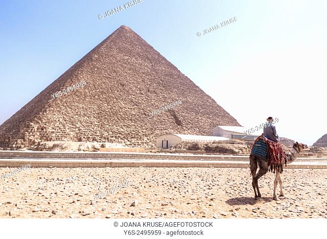 Great Pyramid of Giza, Cheops, Giza, Cairo, Egypt, Africa