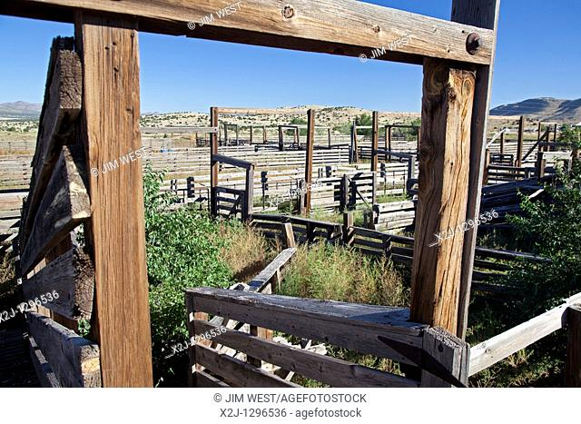 Magdalena, New Mexico - The historic Magdalena stock pens  Tens of thousands of sheep and cattle each year were driven here from as far as eastern Arizona to...
