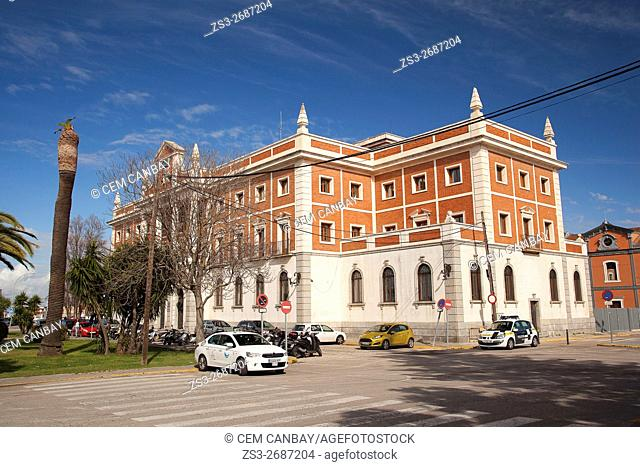Aduana-Custom Office building by the Atlantic Ocean, Cádiz City, Andalusia, Spain, Europe