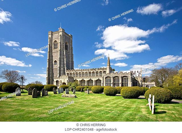 England, Suffolk, Lavenham. The 15th century Church of St Peter and St Paul in Lavenham