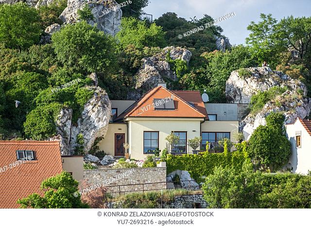 House at Goat Hill in Mikulov town, Moravia region, Czech Republic