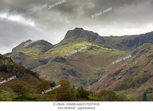 The Langdale Pikes in the Lake District National Park in Cumbria, England