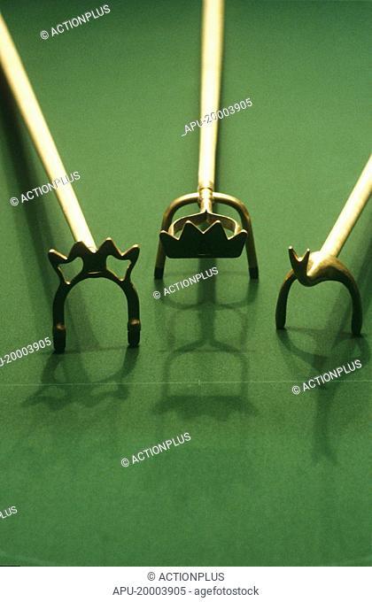 Three Snooker cue bridges