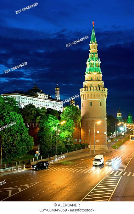 Tower Kremlin and road