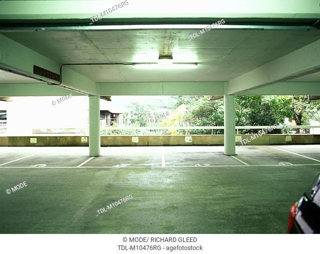 An empty car park