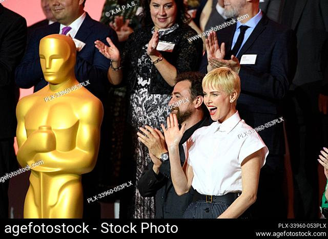 Oscar® nominees Yves Piat and Charlize Theron at the Oscar Nominee Luncheon held at the Ray Dolby Ballroom, Monday, January 27, 2020