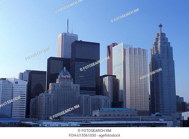 Toronto, Canada, Ontario, Skyline of downtown Toronto