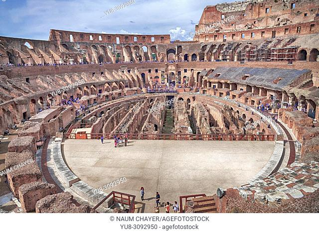 The Colosseum arena, Rome, Italy, Europe