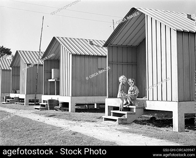 Metal Shelters for Agricultural and Packing House Workers, Osceola Migratory Labor Camp, Belle Glade, Florida, USA, Marion Post Wolcott, U.S