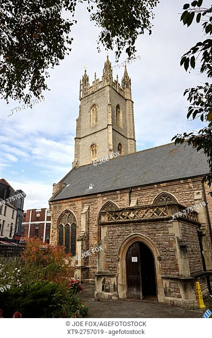 Church of St John the Baptist Cardiff city centre Wales United Kingdom