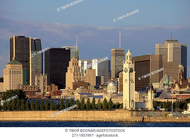 Canada, Quebec, Montreal, skyline, St Lawrence River